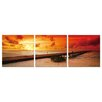 <strong>Artistic Bliss</strong> Red Sunset 3 Piece Photographic Print Set