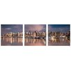 Artistic Bliss City Skyline 3 Piece Photographic Print Set