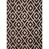 Abacasa Lifestyle Gates White/Dark Brown Trellis Rug