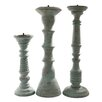 <strong>Foreign Affairs Home Decor</strong> 3 Piece Safari Lau Wood Candlestick Set