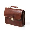 <strong>Floto Imports</strong> Cortona Leather Laptop Briefcase