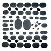 Sivan Health and Fitness 60 Piece Basalt Lava High Polish Hot Stone Massage Kit