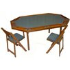 "Kestell Furniture 72"" Oak Deluxe Folding Poker Table Set"