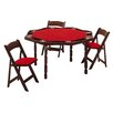 "Kestell Furniture 57"" Oak Period Style Folding Poker Table Set"