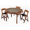 "<strong>57"" Oak Contemporary Folding Poker Table Set</strong> by Kestell Furniture"