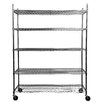 "<strong>NSF Extra Large Commercial Grade 77"" H 5 Shelf Shelving Unit Starter</strong> by Trinity"
