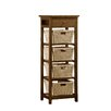 Hillsdale Furniture Tuscan Retreat® 4 Shelf Stand with 4 Baskets