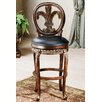 "<strong>Hillsdale Furniture</strong> Fleur De Lis 25"" Swivel Bar Stool with Cushion"