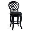 "Braxton 30"" Black Leather Swivel Bar Stool"