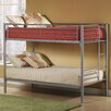 Universal Youth Twin over Twin Bunk Bed with Built-In Ladder