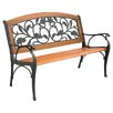Innova Hearth and Home Garden Leaves Cast Iron Park Bench