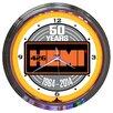 """Neonetics 15"""" Hemi 50Th Anniversary Neon Clock"""