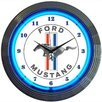 "Neonetics 15"" Ford Mustang Blue Neon Clock"