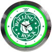 "<strong>15"" Rolling Rock Beer Neon Clock</strong> by Neonetics"