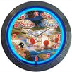 "Neonetics Bar and Game Room 15"" Pinball Wall Clock"