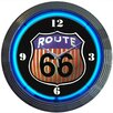 """Neonetics Cars and Motorcycles 15"""" Route 66 Wall Clock"""
