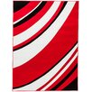 <strong>Melody Red Tether Contemporary Rug</strong> by Infinity Home
