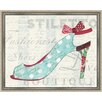 Green Leaf Art Stepping Out I Framed Painting Print