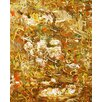 Green Leaf Art Curves Painting Print on Wrapped Canvas