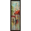 Green Leaf Art A Stroll in Paris I Framed Painting Print