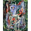 Green Leaf Art Cave 2 Painting Print on Wrapped Canvas