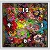 "<strong>Green Leaf Art</strong> Colors 20"" Art Wall Clock"