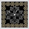 "<strong>Green Leaf Art</strong> Floral with Leaves 16"" Art Wall Clock"