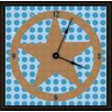 "Green Leaf Art Lone Star 20"" Art Wall Clock"