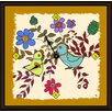 "Green Leaf Art Birds in Spring 20"" Art Wall Clock"