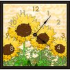 "<strong>Green Leaf Art</strong> Sunflowers 11"" Art Wall Clock"