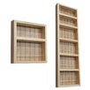 WG Wood Products 2 Piece On the Wall Spice Rack II Set