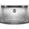 "Ukinox 33"" x 22.25"" Curved Apron Front Single Bowl Undermount Kitchen Sink"