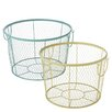 CBK 2 Piece Colorful Wire Basket Set