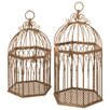 CBK 2 Piece Birdcage Wall Hanging Planter Set