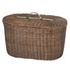 <strong>CBK</strong> Woven Rattan Oval Trunk with Leather Handle