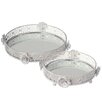 CBK 2 Piece Rose Vanity Tray Set