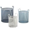 CBK 3 Piece ZigZag Storage Basket Set