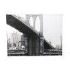 Art Wall 'NYC Brooklyn Bridge' by Linda Parker Photographic Print on Canvas