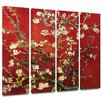 <strong>'Interpretation in Red Almond Blossom' by Vincent Van Gogh 4 Piece ...</strong> by Art Wall