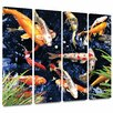 Art Wall 'Koi' by George Zucconi 4 Piece Painting Print Gallery-Wrapped on Canvas Set