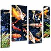 Art Wall 'Koi' by George Zucconi 4 Piece Photographic Print Gallery-Wrapped on Canvas Set