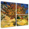 Art Wall 'Mulberry Tree' by Vincent Van Gogh Flag 3 Piece Painting Print Gallery-Wrapped on Canvas Set