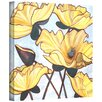 Art Wall 'Golden Blooms' by Herb Dickinson Painting Print on Wrapped Canvas