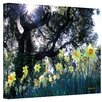 Kathy Yates ''Daffodils and The Oak'' Canvas Art