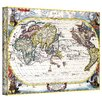 Antique ''Navigationes Praecivae Evropaeorvm Antique Map'' Canvas Art