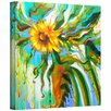 Art Wall 'Sunflower Melting' by Susi Franco Painting Print on Canvas