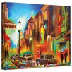 Art Wall 'Twilight in Treviso' by Susi Franco Painting Print on Canvas