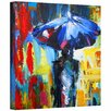 <strong>Art Wall</strong> 'Downtown Stroll' by Jan Susi Franco Painting Print on Canvas