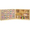 Jonti-Craft E-Z Glide Fold-n-Lock - 33 Compartment Cubby