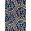 Filament  LLC Cinzia Grey / Blue Abstract Area Rug